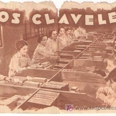 Cine: LOS CLAVELES PROGRAMA DOBLE TROQUELADO PROCINES CINE ESPAÑOL EUSEBIO FERNANDEZ ARDAVIN C. Lote 19804749