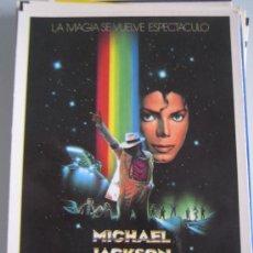 Cine: FOLLETO DE MANO TARJETA ORIGINAL ESTRENO - MOONWALKER MICHAEL JACKSON - LAUREN FILMS. Lote 30599018