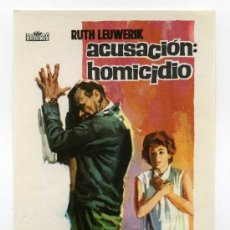 Cine: ACUSACION DE HOMICIDIO, CON RUTH LEUWERIK.. Lote 114645262