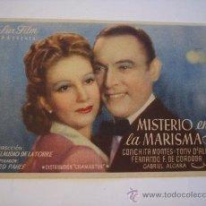 Cine: MISTERIO EN LA MARISMA (CONCHITA MONTES / TONY D'ALGY). Lote 19982471