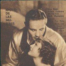 Folhetos de mão de filmes antigos de cinema: IDOLO DE LAS MUJERES. Lote 26730183