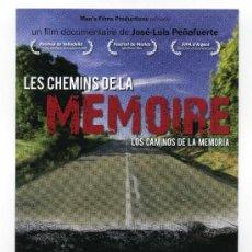 Cine: LOS CAMINOS DE LA MEMORIA POR JOSÉ LUIS PEÑAFUERTE. 10 X 21 CMS.. Lote 114775355