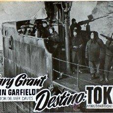 Cine: DESTINO TOKIO (DESTINATION TOKIO) DELMER DAVES, CARY GRANT, JOHN GARFIELD, SIN PUBLICIDAD. Lote 20159495