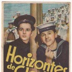 Cine: PR3 HORIZONTES DE GLORIA PROGRAMA SENCILLO MGM MICKEY ROONEY FREDDIE BARTHOLOMEW. Lote 20184501