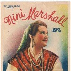 Cine: PR3 LOS CELOS DE CANDIDA PROGRAMA SENCILLO REY SORIA NINI MARSHALL RARO. Lote 20192905