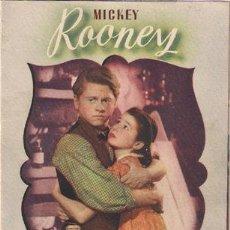 Cine: PR3 EL JOVEN EDISON PROGRAMA DOBLE MGM MICKEY ROONEY. Lote 20209301