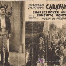 Cine: PR3 CARAVANA PROGRAMA TARJETA FOX CHARLES BOYER ANNABELLA CONCHITA MONTENEGRO B2. Lote 20209641