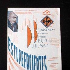 Cine: UNICO, PROGRAMA DE CINE, ESTUPEFACIENTES, UFA, BRUNO DUBAY, 1933, DANIELE DAROLA, JEAN MURAT. Lote 20233947