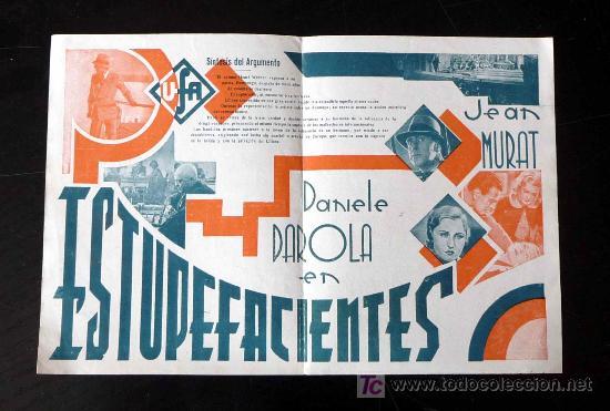 Cine: UNICO, PROGRAMA DE CINE, ESTUPEFACIENTES, UFA, BRUNO DUBAY, 1933, DANIELE DAROLA, JEAN MURAT - Foto 3 - 20233947