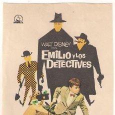 Cine: PR5 EMILIO Y LOS DETECTIVES PROGRAMA SENCILLO DIPENFA WALT DISNEY RARO. Lote 20338352