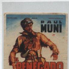Cine: EL RENEGADO. SOLIGÓ. SENCILLO DE 20TH CENTURY FOX. CINE SALÓN 1947.. Lote 20346963