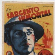 Cine: EL SARGENTO INMORTAL.SOLIGÓ. SENCILLO DE 20TH CENTURY FOX. CINE HELIÓPOLIS. SEVILLA.. Lote 20348302