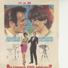 Cine: RELACIONES CASI PUBLICAS. PROGRAMAS DE MANO Y MAS COLECCIONISMO EN RASTRILLOPORTOBELLO. Lote 20356264
