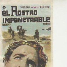 Cine: EL ROSTRO IMPENETRABLE. PROGRAMAS DE MANO Y MAS COLECCIONISMO EN RASTRILLOPORTOBELLO. Lote 23255041
