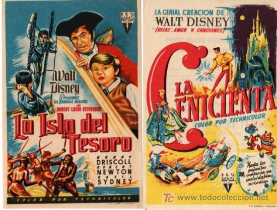 DOS PROGRAMAS DISNEY (Cine - Folletos de Mano - Infantil)