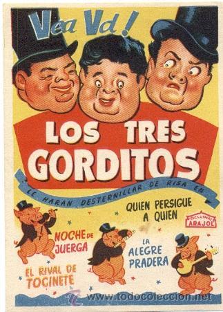 LOS TRES GORDITOS, ARAJOL (Cine - Folletos de Mano - Infantil)