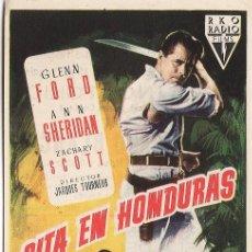Cine: CITA EN HONDURAS.- RKO RADIO FILMS.- CINE COLISEUM.- TARRAGONA.- TGN. Lote 20562877