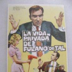 Cine: LA VIDA PRIVADA DE FULANO DE TAL.F-813. Lote 20686905