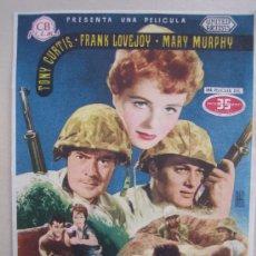 Cine: FOLLETO DE MANO - MISION TEMERARIA BEACHHEAD - TONY CURTIS - CB FILMS 2ª GUERRA MUNDIAL. Lote 20768169