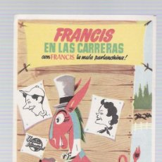 Cine: FRANCIS EN LAS CARRERAS. SENCILLO DE UNIVERSAL INTERNATIONAL. . Lote 20811452