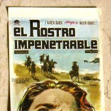 Cine: EL ROSTRO IMPENETRABLE - MARLON BRANDO / PUBLICIDAD EN REVERSO.. Lote 21247377