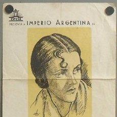 Cine: MORENA CLARA PROGRAMA PASQUIN CIFESA CINE ESPAÑOL IMPERIO ARGENTINA. Lote 25029870