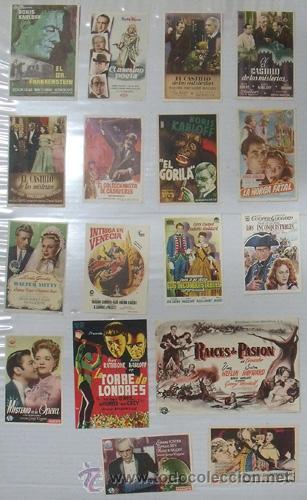 ZQ34D BORIS KARLOFF COLECCION DE 17 PROGRAMAS SENCILLOS ORIGINALES ESPAÑOLES (Cine - Folletos de Mano - Terror)