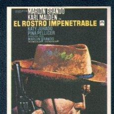 Cine: EL ROSTRO IMPENETRABLE - MARLON BRANDO - SIN PUBLICIDAD. Lote 21716708