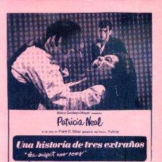 Cine: UNA HISTORIA DE TRES EXTRAÑOS. Lote 27240941