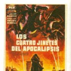 Cine: CUATRO JINETES DEL APOCALIPSIS - PROGRAMA ORIGINAL CON PUBLICIDAD - . Lote 27600102