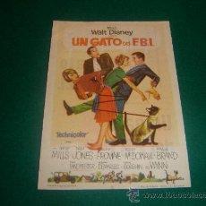 Cine: WALT DISNEY - UN GATO DEL F.B.I. - CON PUBLICIDAD - IMPECABLE. Lote 21818562