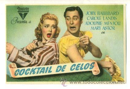 COCKTAIL DE CELOS - PROGRAMA ORIGINAL SIN PUBLICIDAD - (Cine - Folletos de Mano)