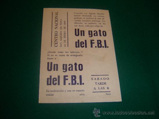 Cine: WALT DISNEY - UN GATO DEL F.B.I. - CON PUBLICIDAD - IMPECABLE - Foto 2 - 21818562