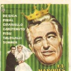 Cine: EL MARQUÉS, SU SOBRINA Y ... LA DONCELLA - VITTORIO DE SICA, SILVIA PINAL, ANTONIO CIFARIELLO. Lote 27223072