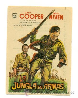 JUNGLA EN ARMAS , LA - PROGRAMA ORIGINAL CON PUBLICIDAD - (Cine - Folletos de Mano)