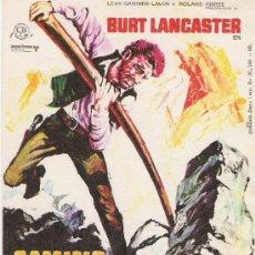 Cine: CAMINO DE LA VENGANZA DE BURT LANCASTER . Lote 21982157