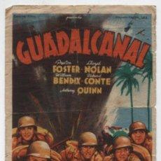 Cine: GUADALCANAL.SOLIGÓ. SENCILLO DE 20TH CENTURY FOX.. Lote 22017833