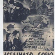 Cine: ASESINATO EN SOHO. DOBLE DE ESTRELLA AZUL.. Lote 22025285