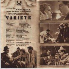 Cine: VARIETÉ. DOBLE DE U FILMS.. Lote 22025619