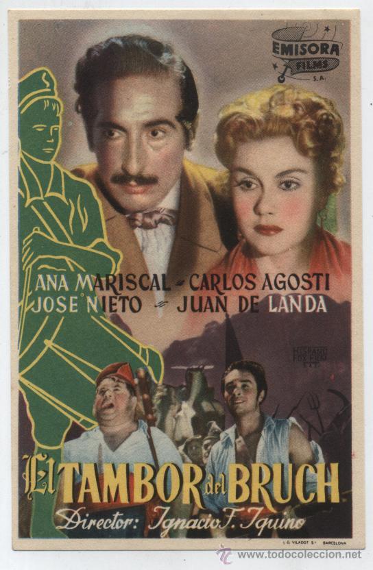 EL TAMBOR DEL BRUCH.SENCILLO DE EMISORA FILMS. (Cine - Folletos de Mano - Drama)