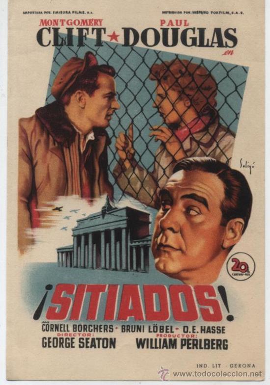 SITIADOS.SOLIGÓ. SENCILLO DE 20TH CENTURY FOX. (Cine - Folletos de Mano - Drama)