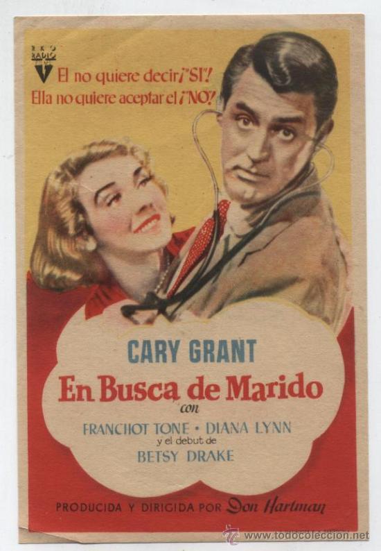 EN BUSCA DE MARIDO.SENCILLO DE RKO RADIO. (Cine - Folletos de Mano - Drama)