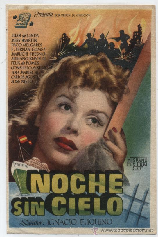 NOCHE SIN CIELO. SENCILLO DE EMISORA FILMS. (Cine - Folletos de Mano - Drama)