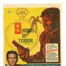 Cine: 9 HORAS DE TERROR - PROGRAMA ORIGINAL CON PUBLICIDAD - IMPECABLE. Lote 26110899