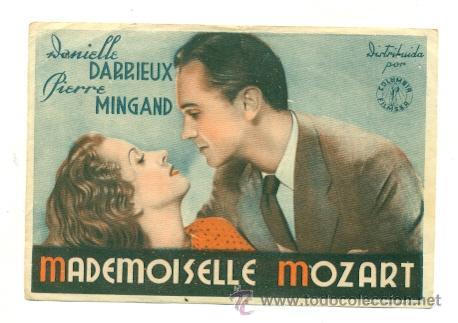 MADEMOISELLE MOZART - PROGRAMA ORIGINAL CON PUBLICIDAD (Cine - Folletos de Mano)