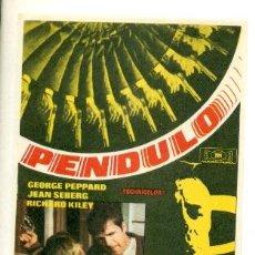Cine: PENDULO - PROGRAMA ORIGINAL SIN PUBLICIDAD - IMPECABLE -. Lote 22545090