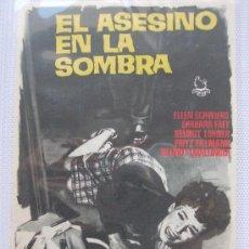 Cine: PROGRAMA DE CINE EL ASESINO EN LA SOMBRA. Lote 22583583