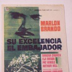 Cine: SU EXCELENCIA EL EMBAJADOR (MARLON BRANDO / SANDRA CHURCH). Lote 22674574