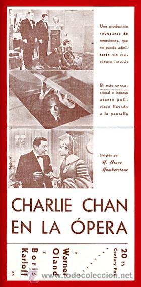 Cine: CHARLIE CHAN EN LA OPERA , BORIS KARLOFF , DOBLE , S1832 - Foto 3 - 22706135