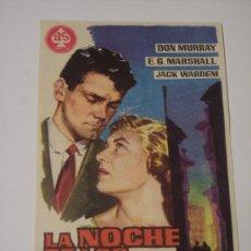 Cine: LA NOCHE DE LOS MARIDOS ( DON MURRAY / E.G. MARSHALL / JACK WARDEM). Lote 22704876
